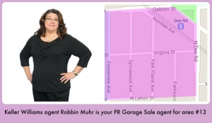Park Ridge Community Wide Garage Sale welcomes Robbin Muhr as KW agent liaison for area #13