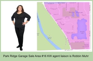 Garage Sale Co-Chair Robbin Muhr is agent Liaison for area #36
