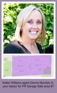 Park Ridge Community Wide Garage Sale area #7 is KW agent Donna Mundzic