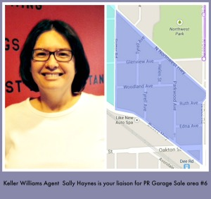 Keller Williams agent Sally Haynes is the liaison for Park Ridge Community Wide Garage Sale area #6
